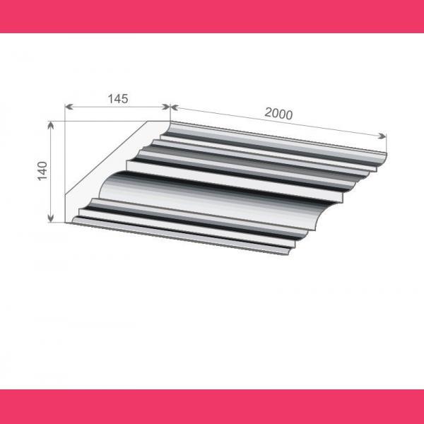 Deckenleiste FE7 - 14 cm
