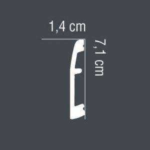 Fußleiste Aluminium MD017A Mardom Decor
