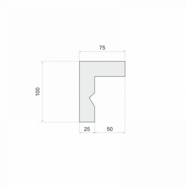 Gardinenschiene Blende LKO3