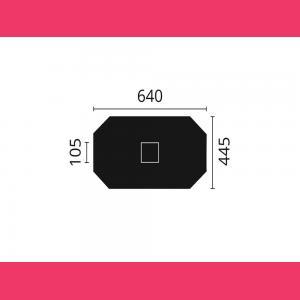 Rosette R52 64 cm x 44,5 cm