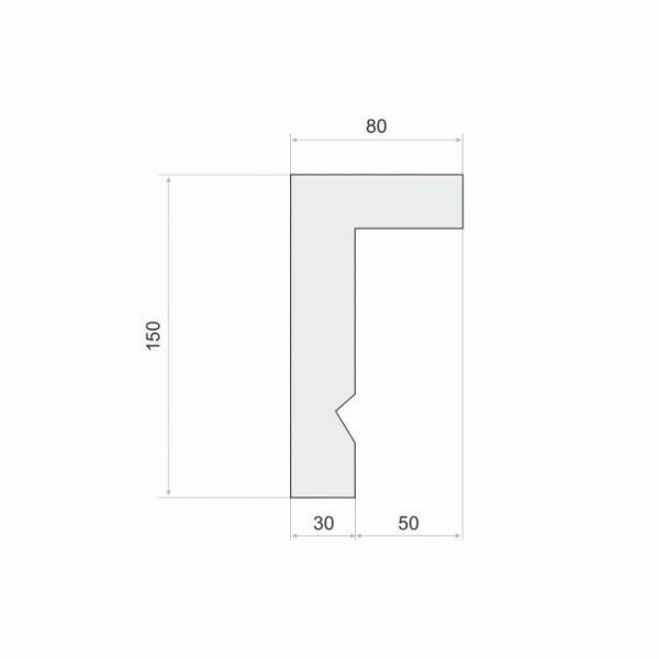 Stuckprofil zur Gardinenschiene LKO3A