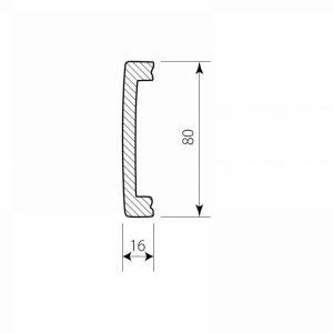 Wandleiste Kunststoff DSS05